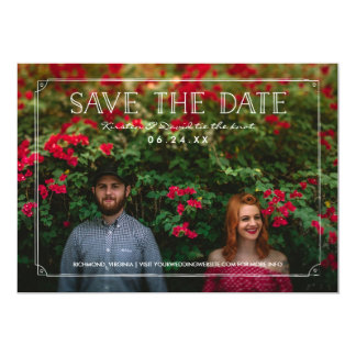 2 Photo | Romantic Doodles Wedding Save the Date Card