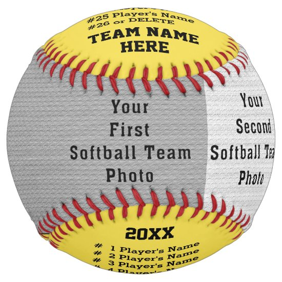2 Photos, All Player's, Team, Coach Names Softball