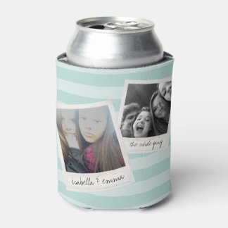2 Photos - Hipster Square Instagram Photo Collage Can Cooler