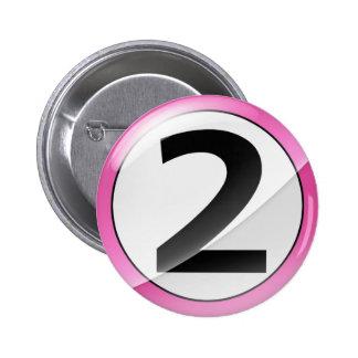 2 pink 2 inch round button
