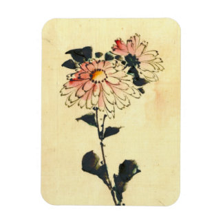 2 Pink Flowers 1840 Magnet