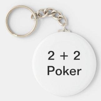2 + Póker 2 Llavero Redondo Tipo Pin