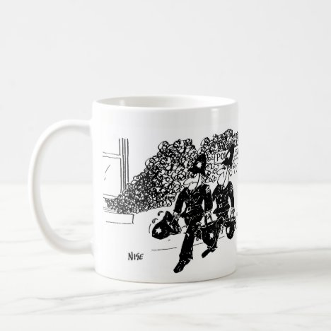 2 Police Cartoons Coffee Mug