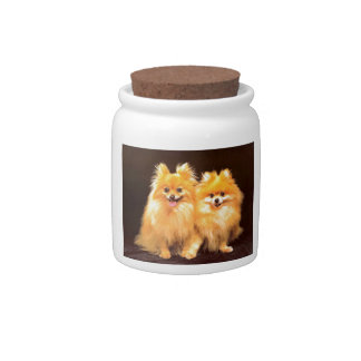 2 Poms Candy Dishes