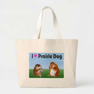 2 prairie dogs (2) large tote bag