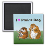 2 prairie dogs (2) refrigerator magnets