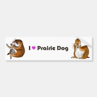 2 preirie dogs bumper sticker