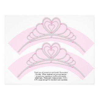 2 princesa Birthday Personalize Cupcake Wrappers Tarjetones