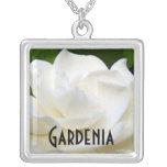 2 Pure White Gardenia Pendant