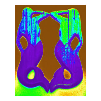 2 purple mermaids letterhead