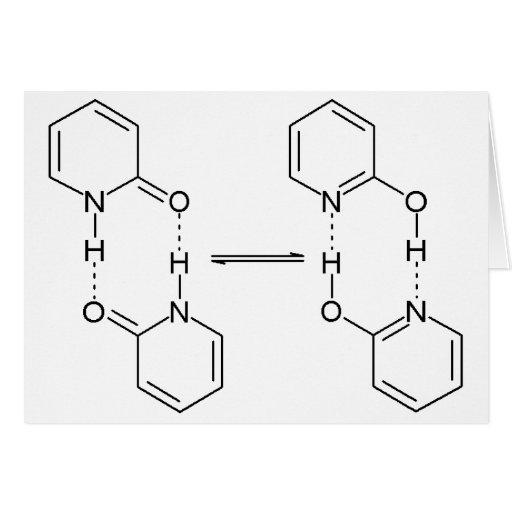 2-Pyridone Chemical Dimer Greeting Cards