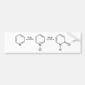 2-Pyridone Chemical Synthesis 2 Bumper Sticker