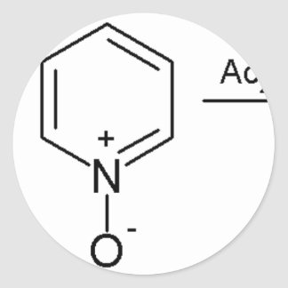 2-Pyridone Chemical Synthesis 2 Classic Round Sticker