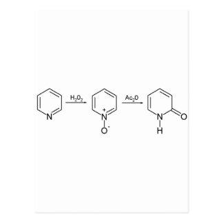 2-Pyridone síntesis química 2 Tarjetas Postales