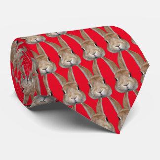 2 rabbits neck tie