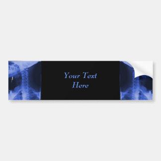 2 radiografiados - Azul electromágnetico Pegatina Para Auto