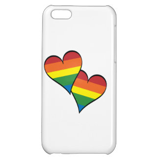 2 Rainbow Hearts Case For iPhone 5C