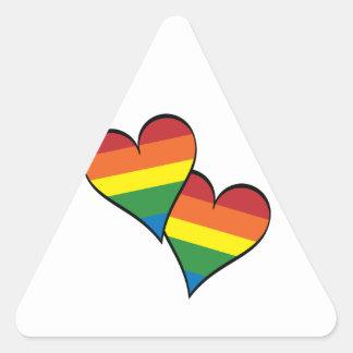 2 Rainbow Hearts Sticker