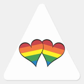 2 Rainbow Hearts Stickers