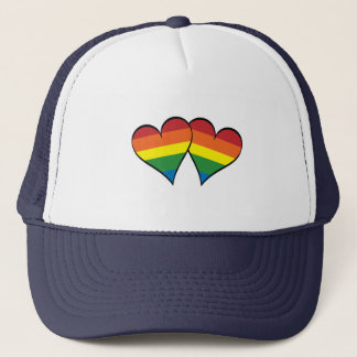2 Rainbow Hearts Trucker Hat