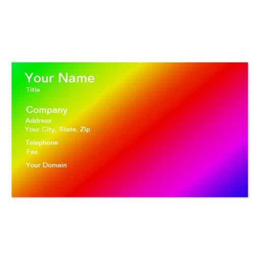 2 rayas diagonales coloridas tarjetas de visita