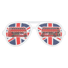 2 Red London Buses Aviator Sunglasses