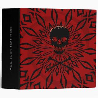 "2"" Red Rage Skull Binder"