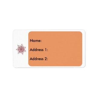 2 religiosos etiquetas de dirección