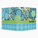 """2"""" retro maravilloso carpeta floral azul de encarg"""