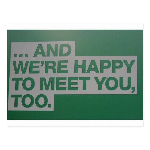 2 reunión feliz U Tarjeta Postal