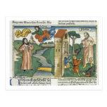 2 reyes 2 1-24 Elías ascienden al cielo en un giro Tarjetas Postales
