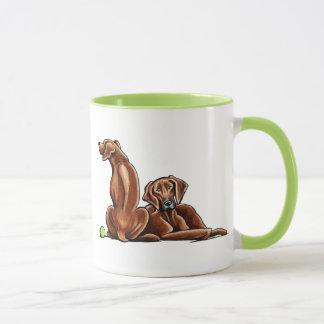 2 Rhodesian Ridgebacks Mug