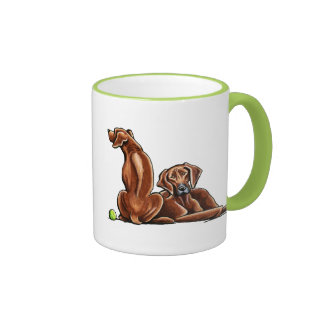 2 Rhodesian Ridgebacks Coffee Mug