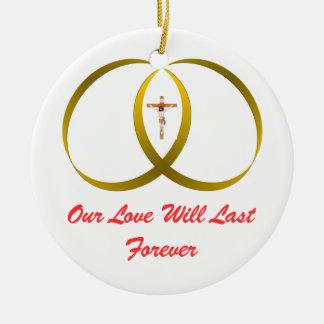 2 rings & JESUS, Christmas Tree Ornaments