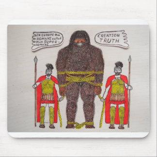 2 Romans & big foot A, Mouse Pad