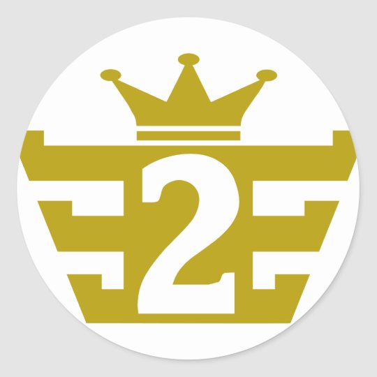 2-Royal.png Classic Round Sticker