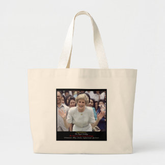 2 - Royal Wedding Diana's Joy Large Tote Bag