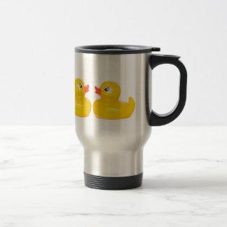 2 rubber ducks in love 15 oz stainless steel travel mug
