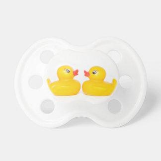 2 rubber ducks in love baby pacifier