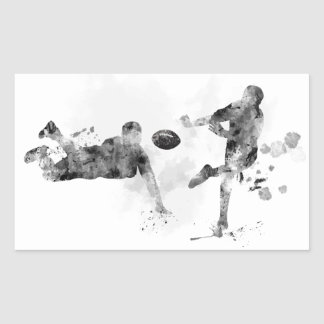 2 RUGBY PLAYERS - RECTANGULAR STICKER