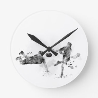 2 RUGBY PLAYERS - ROUND CLOCK