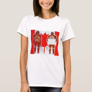 2 Sagittal big foot,1 text on Canada flag,.JPG T-Shirt