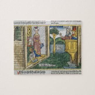 2 Samuel 11 1-5 David sees Bathsheba bathing, from Jigsaw Puzzle