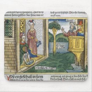 2 Samuel 11 1-5 David sees Bathsheba bathing, from Mouse Pad