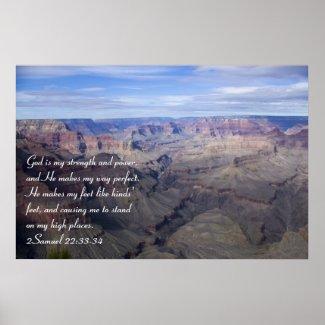 2 Samuel 22:33-34 Poster print