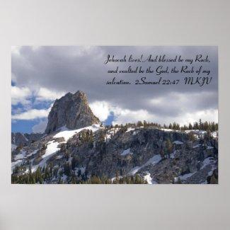 2 Samuel 22:47 Poster print