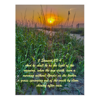 2 Samuel 23:4 And he shall be as the light of the Postcard
