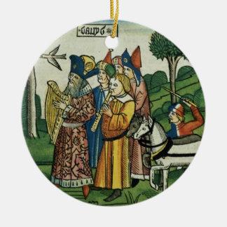 2 Samuel 6 1-5 David brings the Ark to Jerusalem, Ceramic Ornament