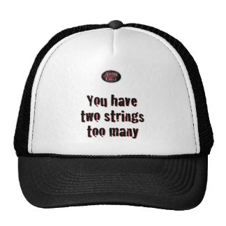 2 secuencias en blanco gorras de camionero