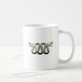2 serpents , 4 heads classic white coffee mug